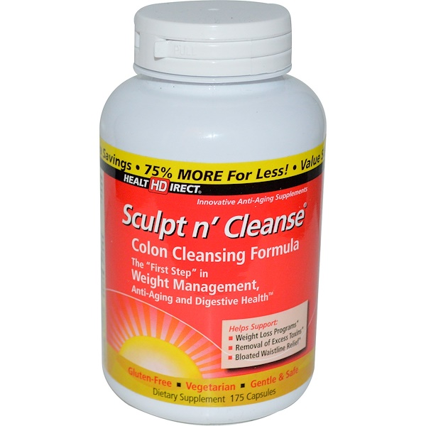 Health Direct, Sculpt n' Cleanse, Colon Cleansing Formula, 175 Capsules (Discontinued Item)