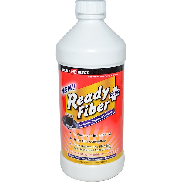 Health Direct, New! Ready Fiber Plus, Complete Digestive Support, 15 fl oz (444 ml) (Discontinued Item)