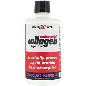 Хэлс Директ, AminoSculpt Collagen, Chocolate Raspberry, 30 fl oz (887 ml) отзывы