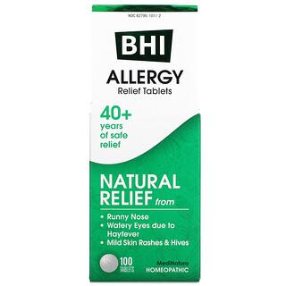 MediNatura, BHI, アレルギー, 100 錠
