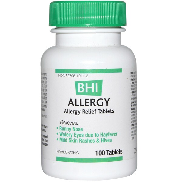 BHI, Allergy, 100 Tablets