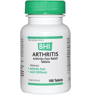 MediNatura, BHI, Arthritis, 100 Tablets