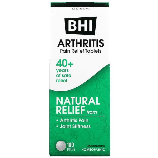 BHI, Arthritis, Pain Relief Tablets, 100 Tablets
