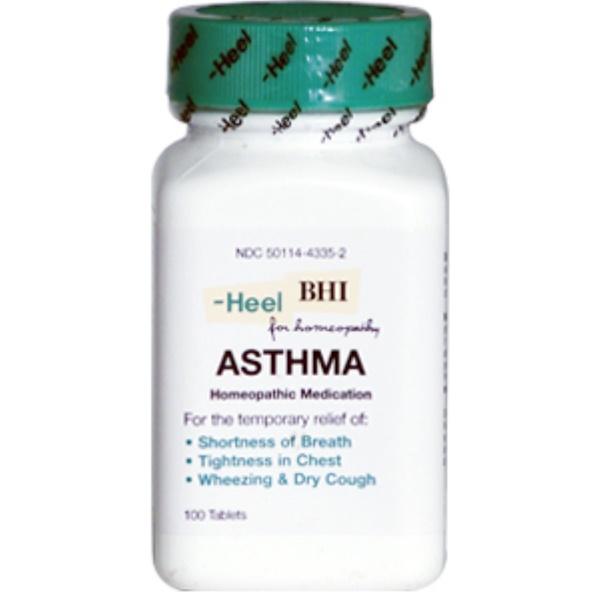 MediNatura, Asthma, Homeopathic Medication, 100 Tablets (Discontinued Item)