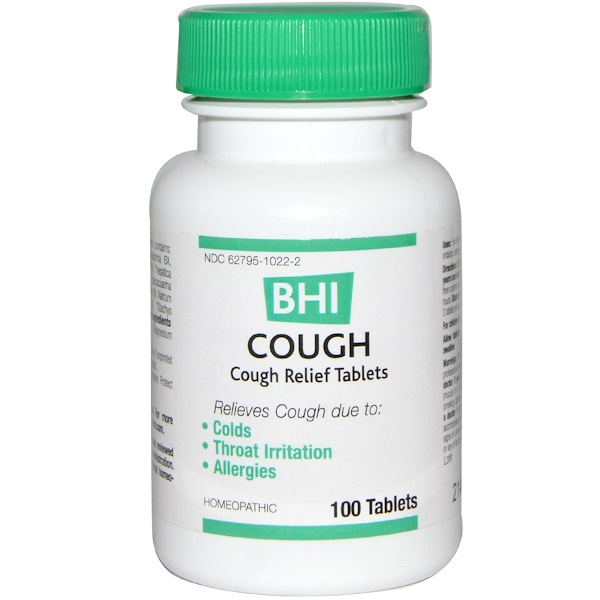 BHI, Cough, 100 Tablets