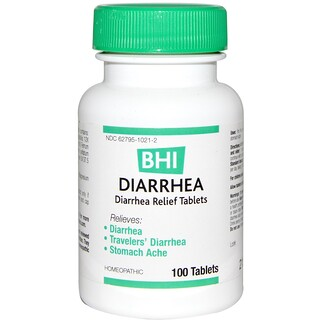 MediNatura, BHI, Diarrhea, 100 Tablets
