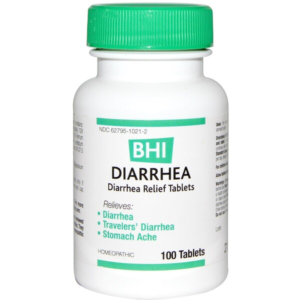 BHI, Diarrhea, 100 Tablets