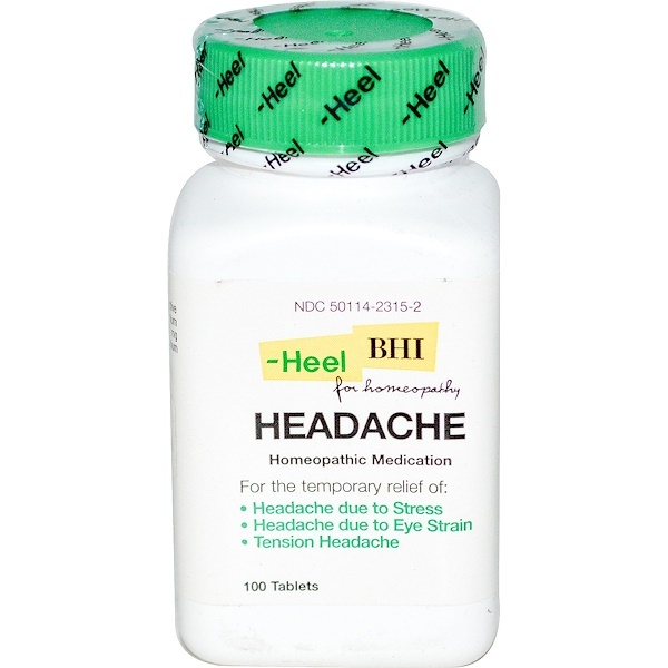 MediNatura, Headache, 100 Tablets (Discontinued Item)