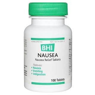 MediNatura, BHI, Nausea, 100 Tablets