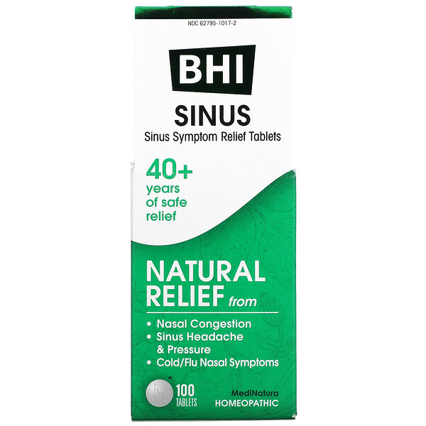 BHI, Sinus, 100 Tablets
