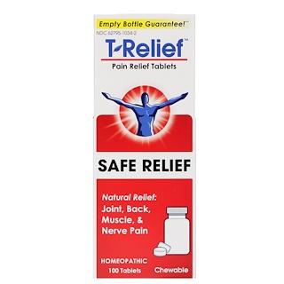 MediNatura, T-Relief, безопасное болеутоляющее, болеутоляющие таблетки, 100 таблеток