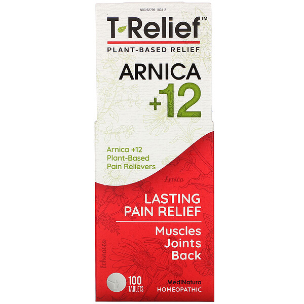 MediNatura, T-Relief, Arnica +12, 100 Tablets