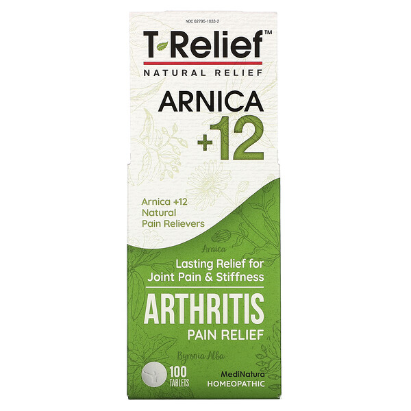 T-Relief, Arnica +12, Arthritis Pain Relief, 100 Tablets