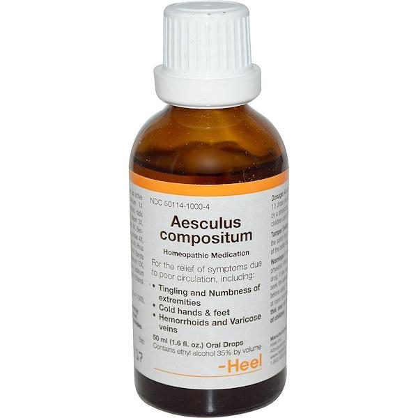 MediNatura, Aesculus Compositum, 1.6 fl oz (50 ml) (Discontinued Item)