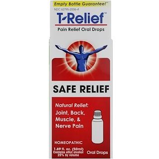 MediNatura, T-Relief, Pain Relief Oral Drops, 1.69 fl oz (50 ml)
