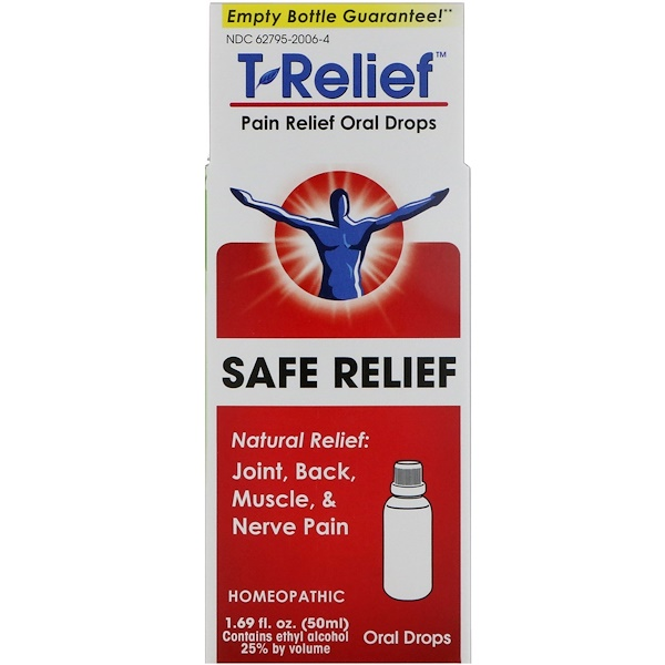 MediNatura, T-Relief, Pain Relief Oral Drops, 1.69 fl oz (50 ml)