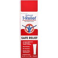 MediNatura, 내츄럴 T-릴리프(Natural T-Relief), 통증 완화 크림, 안전한 완화제, 114 온스 (114 g)