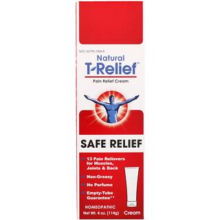 MediNatura, Natural T-Relief, безопасный обезболивающий крем, 4 унц. (114 г)
