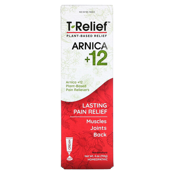 T-Relief، العطاس +12، كريم نباتي مسكن للآلام، 4 أونصة (114 جم)