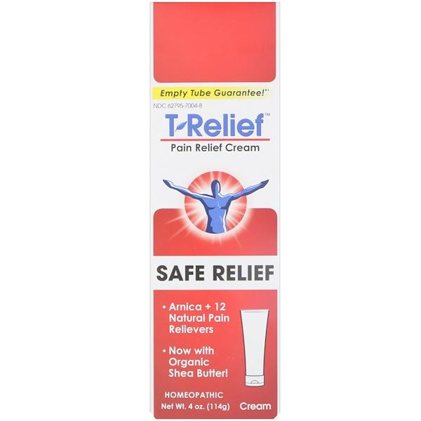 MediNatura, T-Relief、ペイン・リリーフ・オイントメント、4 oz (114 g)