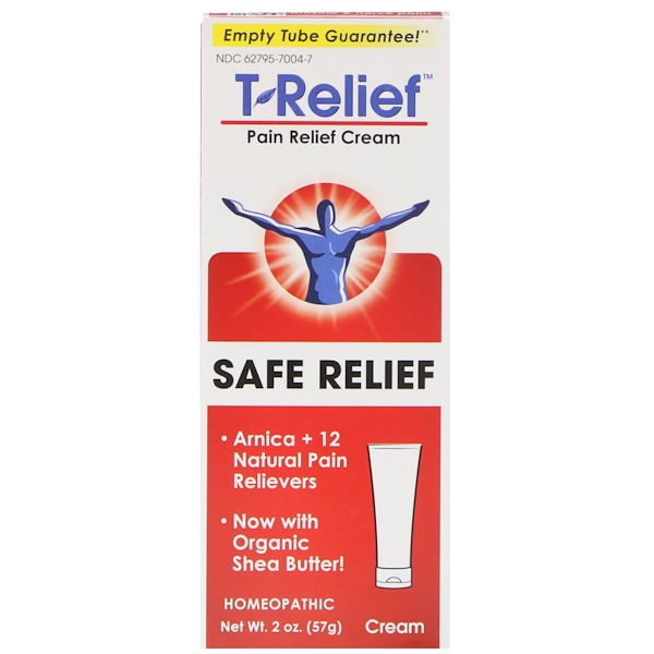 MediNatura, T-Relief, Safe Relief, Pain Relief Cream, 2 oz (57 g)