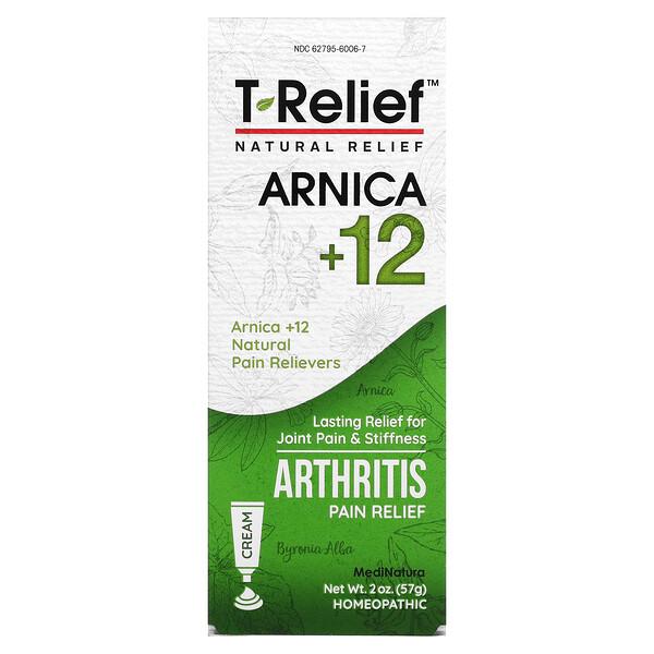 T-Relief™ 山金車 +12 天然疼痛舒緩軟膏,2 盎司(57 克)