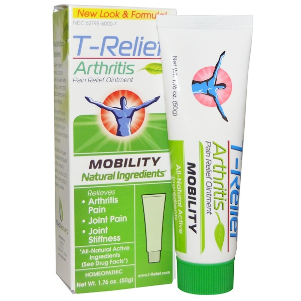 MediNatura, T-Relief, Arthritis Pain Relief Ointment, 1.76 oz (50 g)