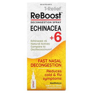 MediNatura, T-Relief,ReBoost,紫錐菊+ 6,減充血噴霧,0.68 液量盎司(20 毫升)