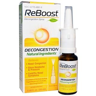 MediNatura, Reboost, Спрей от заложенности носа, 0,68 жидких унций (20 мл)