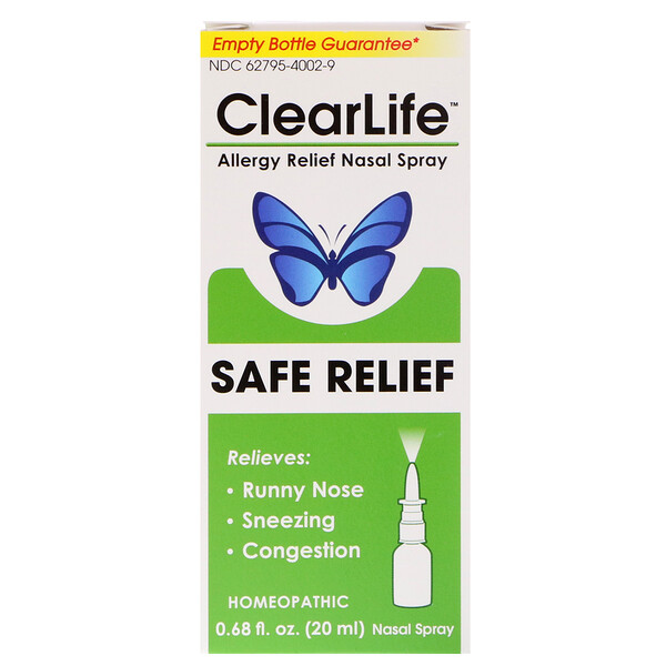 MediNatura, ClearLife, Safe Relief, Allergy Relief Nasal Spray, 0.68 fl oz (20 ml)