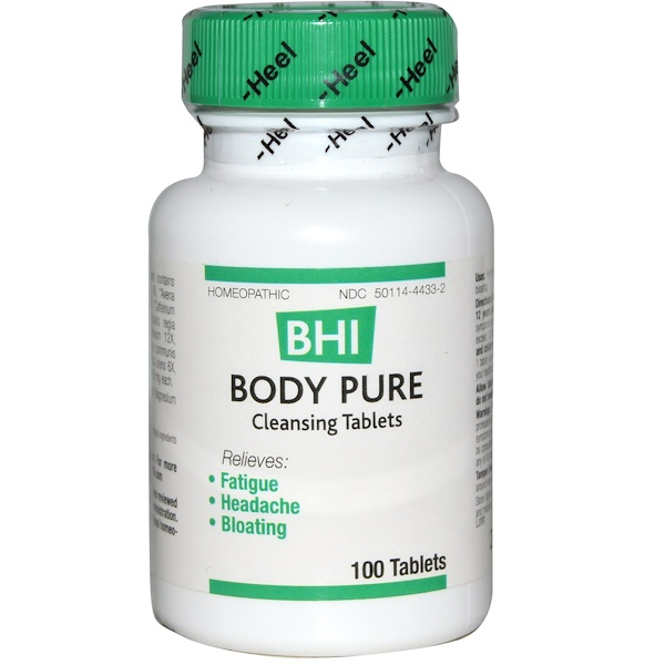 MediNatura, BHI, Body Pure, 100 comprimidos