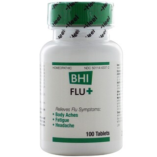 MediNatura, BHI Flu +、 100タブレット