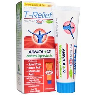 MediNatura, T-Relief, болеутолящий гель, 1,76 унции (50 г)