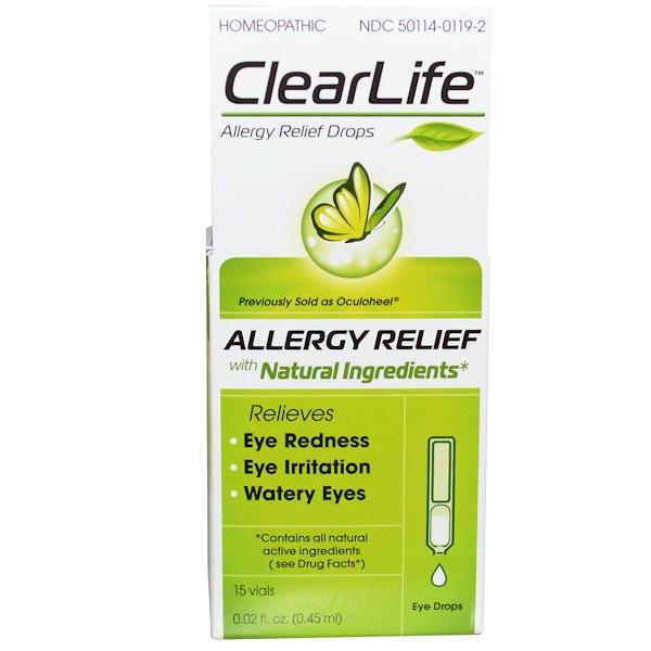 MediNatura, ClearLife, Allergy Relief Drops, 15 Vials, 0.02 fl oz (0.45 ml) Each (Discontinued Item)