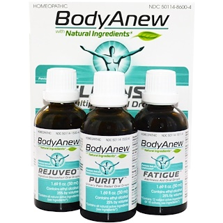 MediNatura, BodyAnew, Cleanse Multipack Oral Drops, 3 Bottles, 1.69 fl oz (50 ml) Each