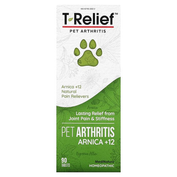 T-Relief, Pet Arthritis Arnica +12, 90 Tablets
