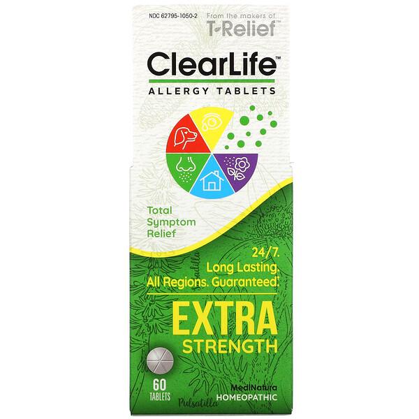MediNatura, Clear Life Allergy Tablets, Extra Strength, 60 Tablets