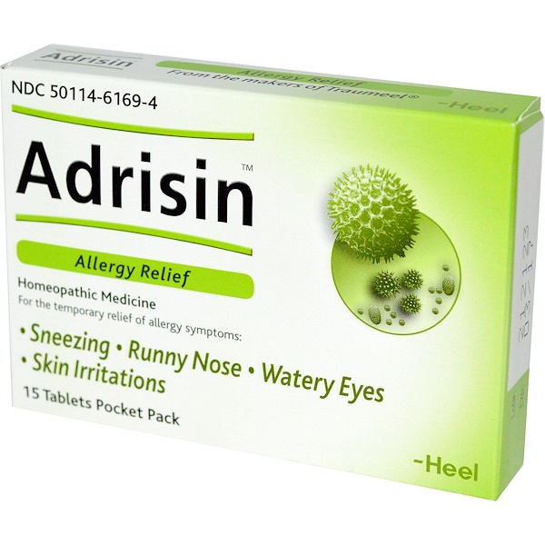 MediNatura, Adrisin, Allergy Relief, 15 Tablets Pocket Pack (Discontinued Item)