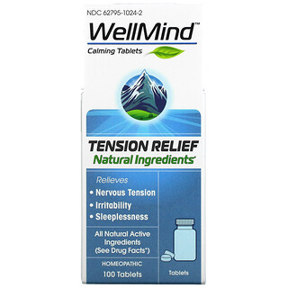 MediNatura, WellMind Calming Tablets, Tension Relief, 100 Tablets