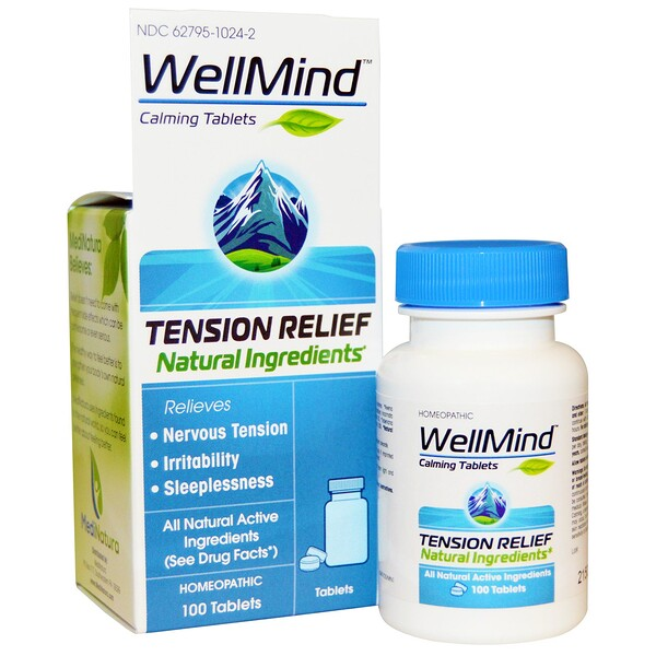 WellMind Calming Tablets, Tension Relief, 100 Tablets