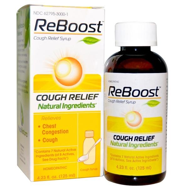 MediNatura, ReBoost, Cough Relief Syrup, 4.23 fl oz (125 ml)