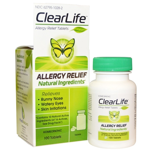 MediNatura, ClearLife, Allergy Relief Tablets, 100 Tablets