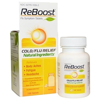 MediNatura, ReBoost, Cold/Flu Relief, Berry, 100 Tablets