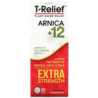 MediNatura, T-Relief, Potencia Extra, Homeopático, Tabletas analgésicas naturales, 90 Tabletas masticables