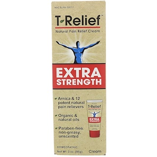 MediNatura, T-Relief, Extra Strength Natural Pain Relief Cream, 3 oz (85 g)