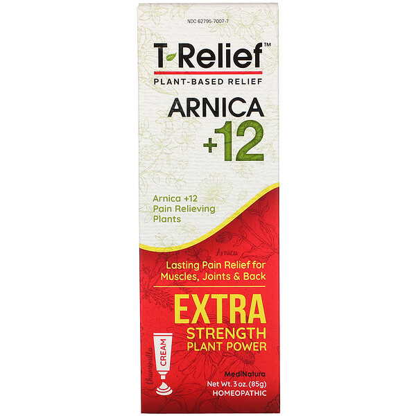 T-Relief, Extra Strength Plant Power Cream, Chamomilla, 3 oz (85 g)