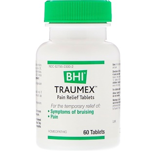 MediNatura, BHI, Traumex, Pain Relief Tablets, 60 Tablets