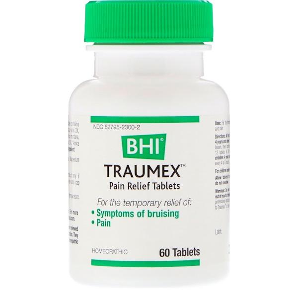 MediNatura, BHI, Traumex, comprimidos para aliviar el dolor, 60 comprimidos (Discontinued Item)