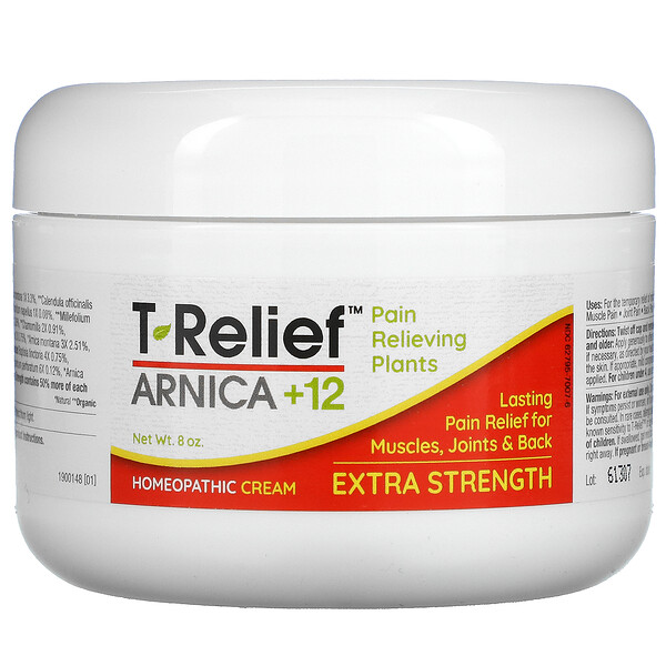 T-Relief, Plant-Based Extra Strength Pain Cream, 8 oz
