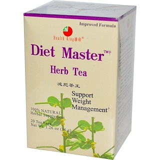 Health King, Diet Master Herb Tea, 20 Tea Bags, 1.26 oz (36 g)